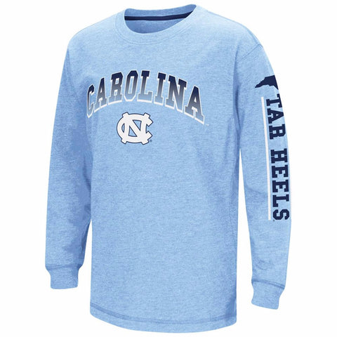 North Carolina Tar Heels Colosseum Youth Grandstand Long Sleeve - Carolina Blue