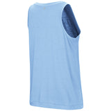 North Carolina Tar Heels Colosseum Women's Bet on Me Muscle Tank - Carolina Blue - Back