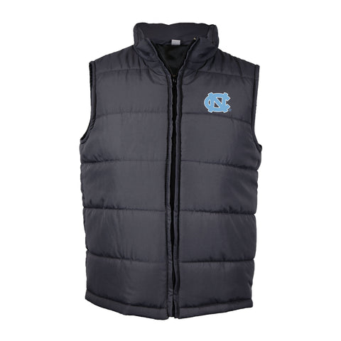 UNC Youth Quilted Zip Up Vest