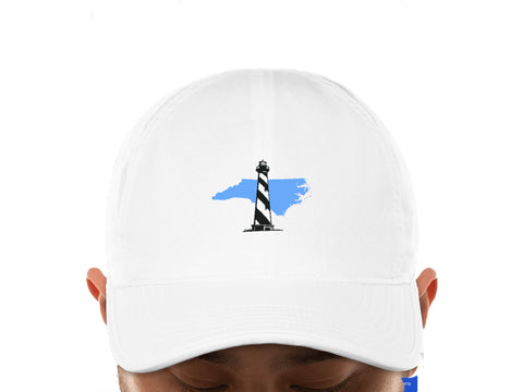 North Carolina State Lighthouse Golf Adult Adjustable Hat in White by Imperial