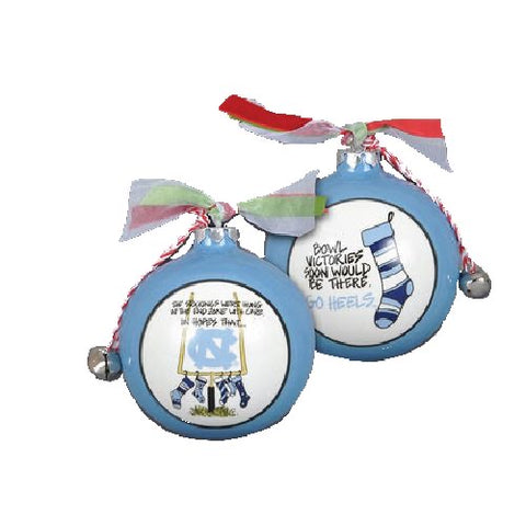 North Carolina Tar Heels Magnolia Lane NC Stocking UNC Ornament