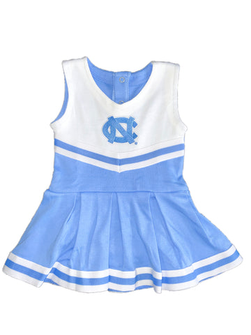 UNC Tar Heels Baby Cheerleader Bodysuit Dress