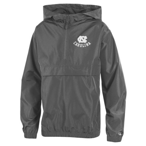 Grey Packable Champion UNC Kids Jacket