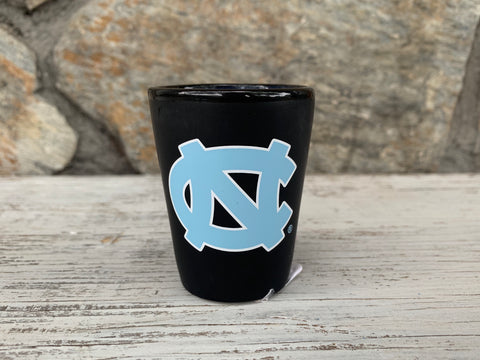 North Carolina Tar Heels Memory Company Black Matte UNC Shot Glass