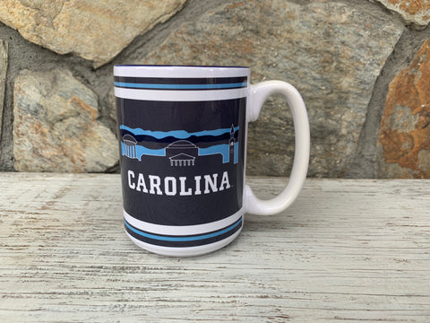 North Carolina Tar Heels 15 oz UNC Uscape Art Mug