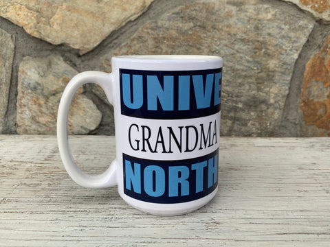 North Carolina Tar Heels Nordic 15 Oz UNC Grandma Coffee Mug