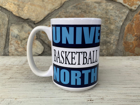 North Carolina Tar Heels Nordic 15 oz UNC Basketball Coffee Mug