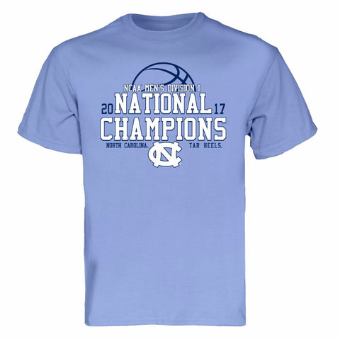 North Carolina Tar Heels 2017 National Championship Press T-Shirt - Carolina Blue