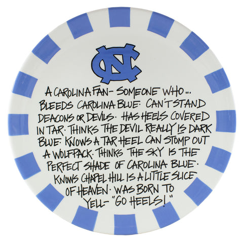 North Carolina Tar Heels UNC Fan Ceramic Serving Plate