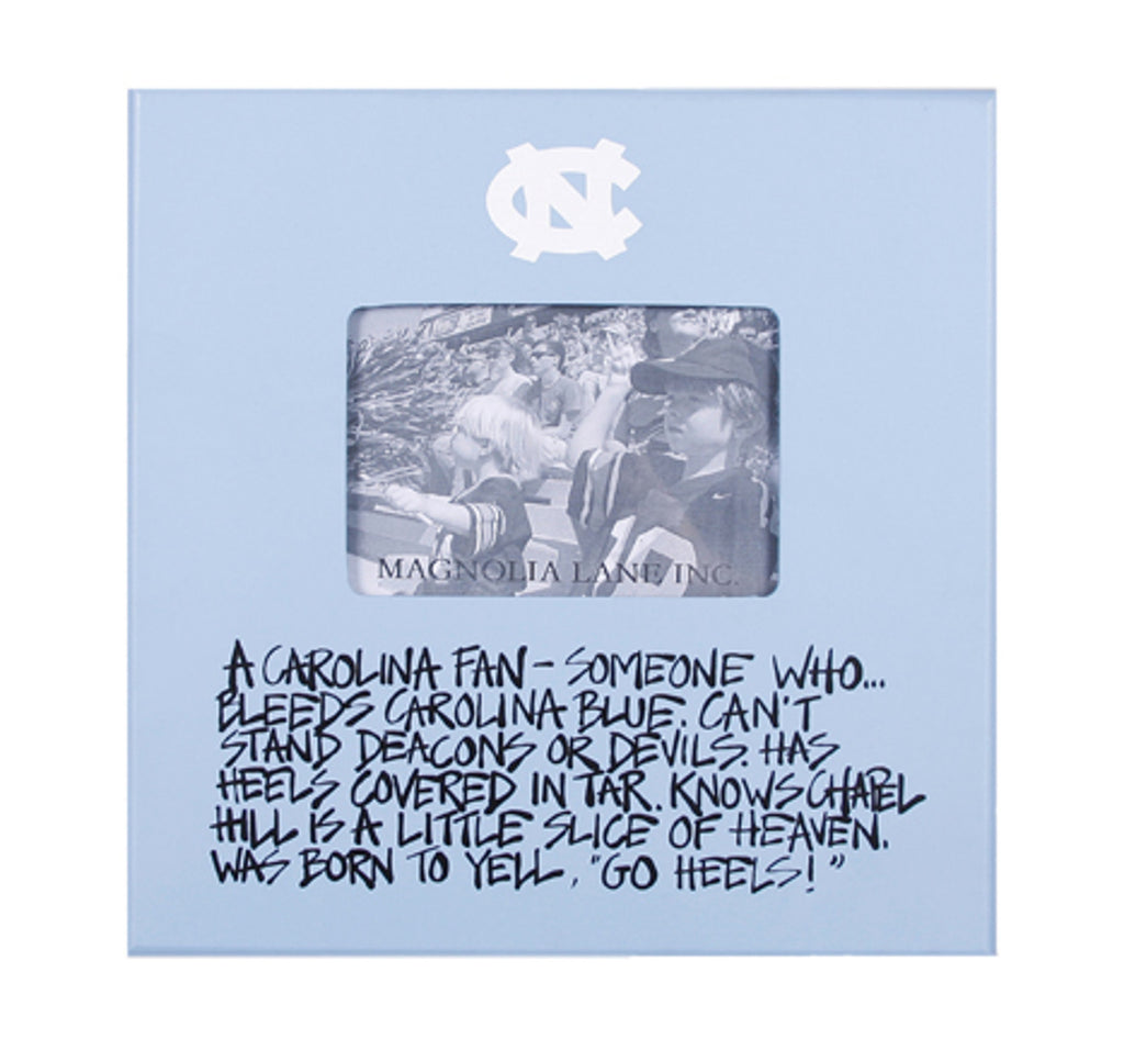 North Carolina Tar Heels Magnolia Lane Carolina Fan Wood Picture Frame