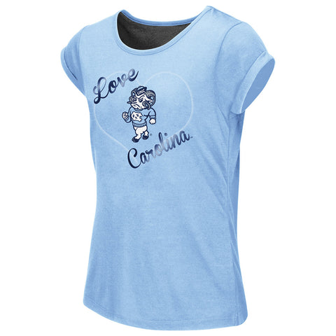 North Carolina Tar Heels Colosseum Baywatch Split Back Tee - Carolina Blue