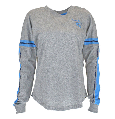 North Carolina Tar Heels Colosseum Mast Women's Long Sleeve - Grey