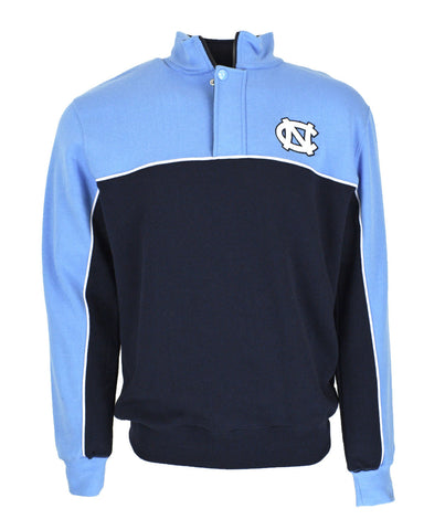 North Carolina Tar Heels Colosseum Thriller Quarter-Zip Pullover Jacket - Carolina Blue/Navy
