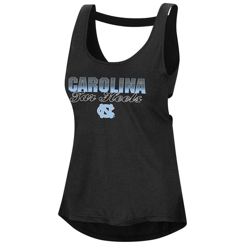 North Carolina Tar Heels Colosseum Open Back Womens Tank - Black