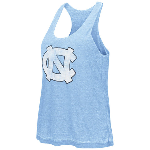 North Carolina Tar Heels Colosseum Women's Red Ross Reversible tank top - Carolina Blue
