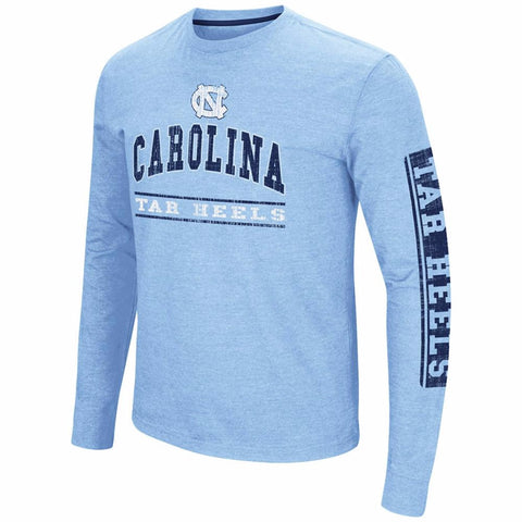 North Carolina Tar Heels Colossum Sky Box Long Sleeve - Carolina Blue