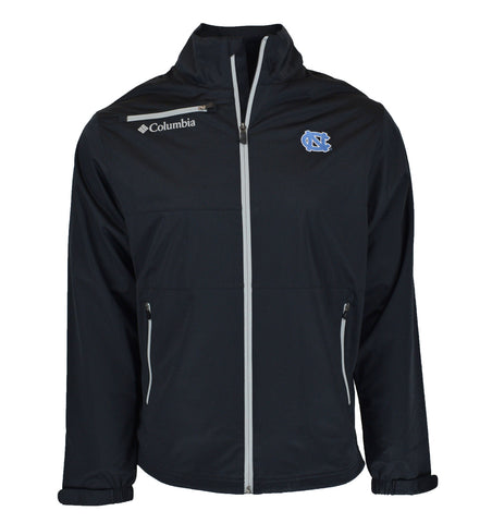 North Carolina Tar Heels Columbia Men's Omni-Wick Follow Through Jacket - Black