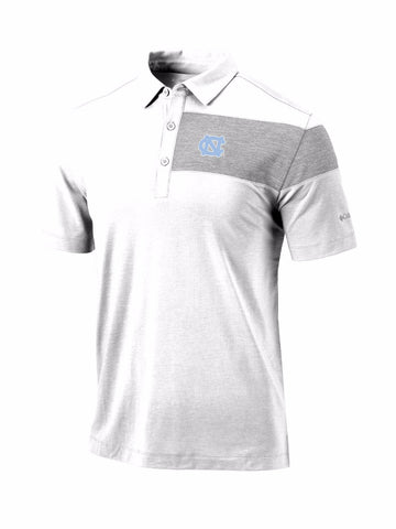 North Carolina Tar Heels Columbia Omni-Wick Skins Polo - White