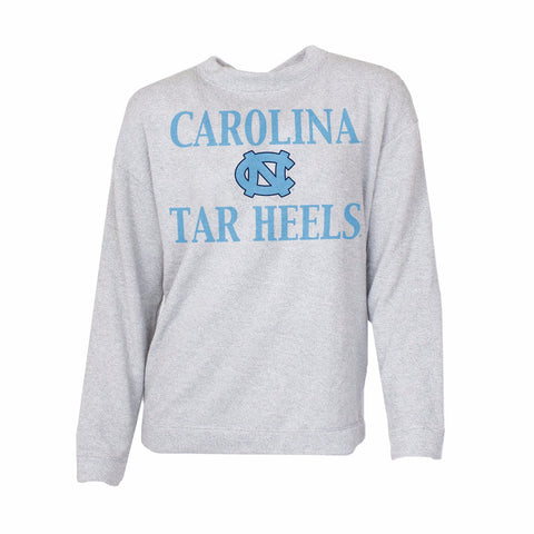 North Carolina Tar Heels Concepts Sport Plush Women's Crewneck - Grey