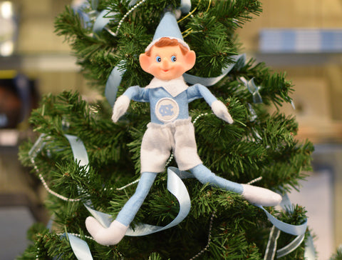 North Carolina Tar Heels Oxbay Elf on the Shelf