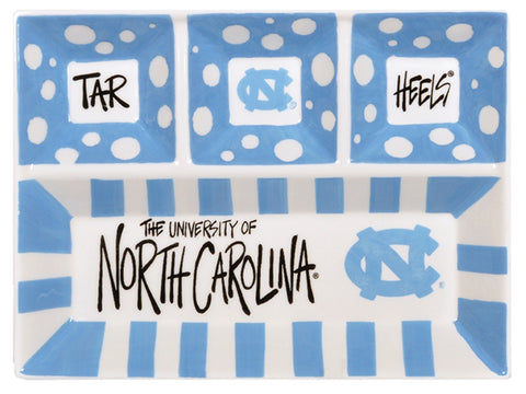 North Carolina Tar Heels Magnolia Lane Carolina Four Divider Ceramic Plate