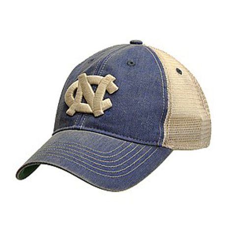 North Carolina Tar Heels Legacy Old Favorite Trucker Adjustable Hat - Washed Navy