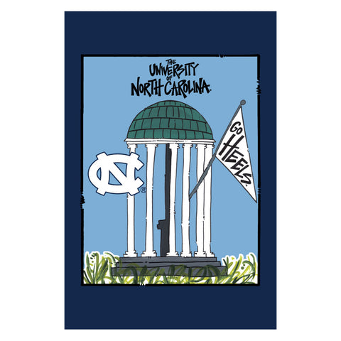 North Carolina Tar Heels Magnolia Lane Old Well Garden Flag