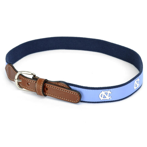 UNC Tar Heels Men's Belt - Tackle Twill and Leather Moonehsine USA
