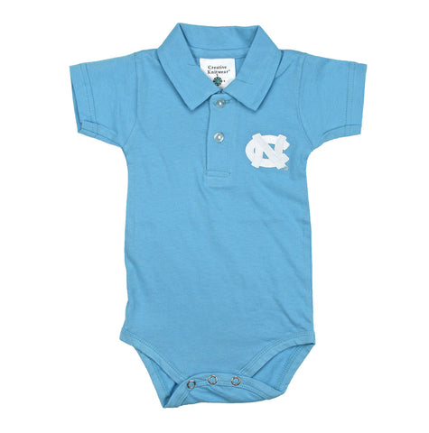 North Carolina Tar Heels Polo Onesie - Carolina Blue