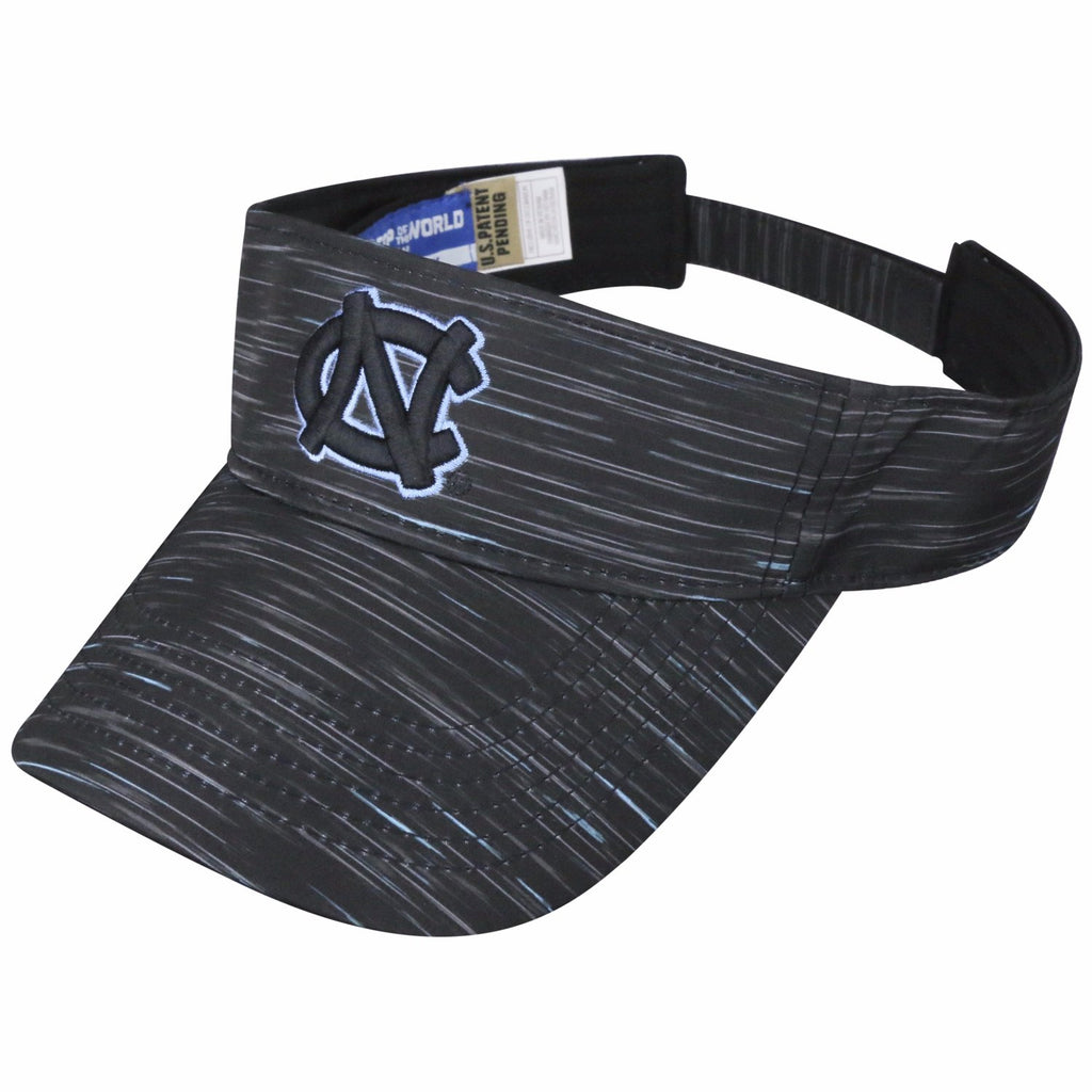 North Carolina Tar Heels Top of The World Obsidian Adjustable Visor