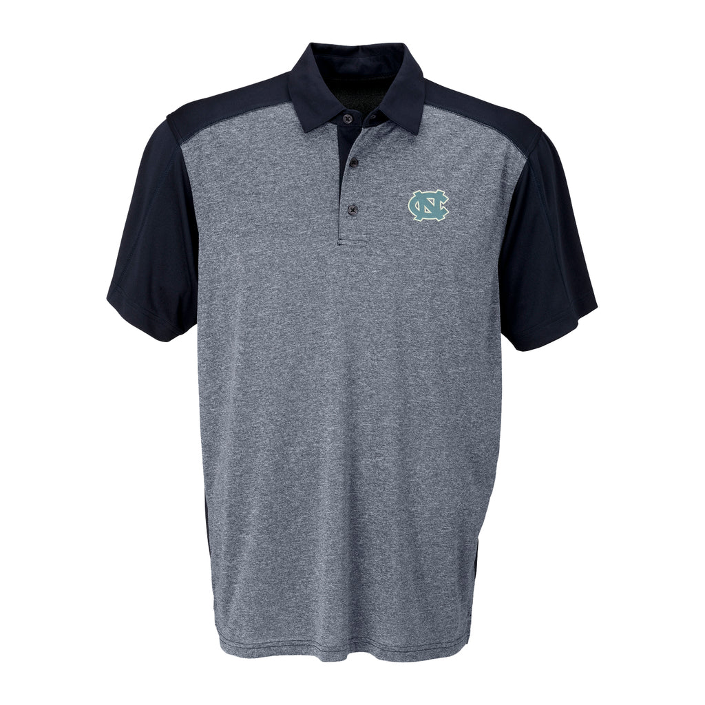 North Carolina Tar Heels Vansport Two-Tone Polo - Gray