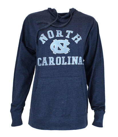 North Carolina Tar Heels Vantage Women's Lightweight Jersey Pullover Hoodie - Navy