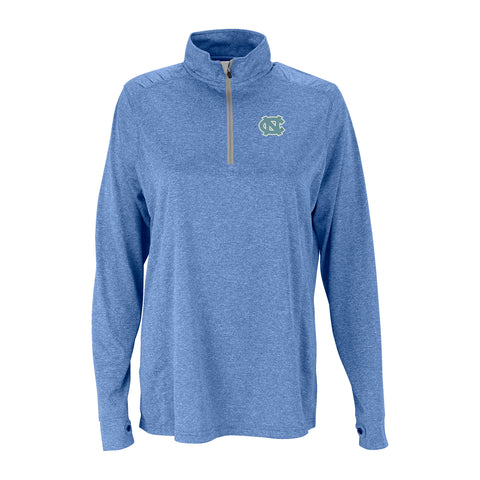 North Carolina Tar Heels Vantage Women's Melange 1/4 Zip Pullover - Carolina Blue