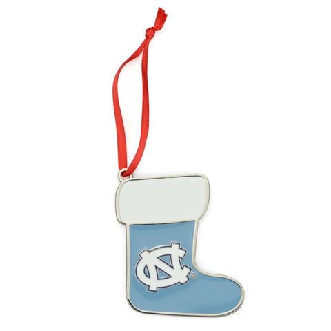 UNC Tar Heels Metal Christmas Stocking Ornament