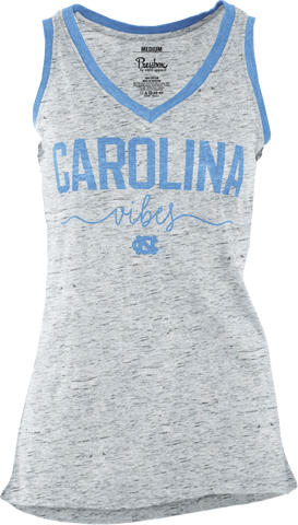 North Carolina Tar Heels Pressbox Vee Neck Oversized Tank Top School Vibes