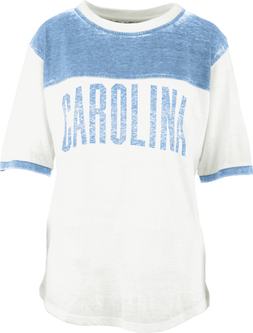 North Carolina Tar Heels Large Arch Short Sleeve Pieced Crew Neck Tee