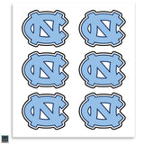 North Carolina Tar Heels Interlock Logo Decal - 6 Pack