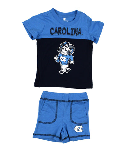 UNC Mascot Baby Outfit - Rameses Tee and Shorts Set