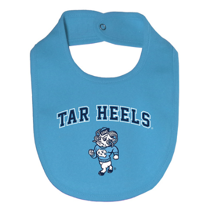 North Carolina Tar Heels Garb Bob Light Blue Infant Bib