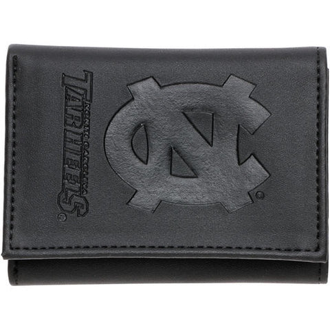 UNC Tar Heels Wallet - Black Bifold Leather