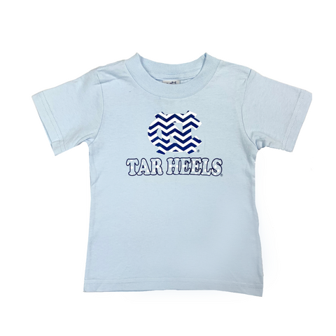 North Carolina Tar Heels Chevron Polka Dot UNC Baby T-Shirt