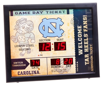 North Carolina Tar Heels Score Board Digital Clock