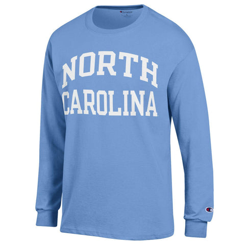North Caroline Long Sleeve Tee Carolina Blue by Champion