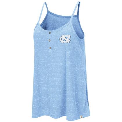 North Carolina Tar Heels Colosseum Betty Spaghetti Henley Women's Tank - Carolina Blue