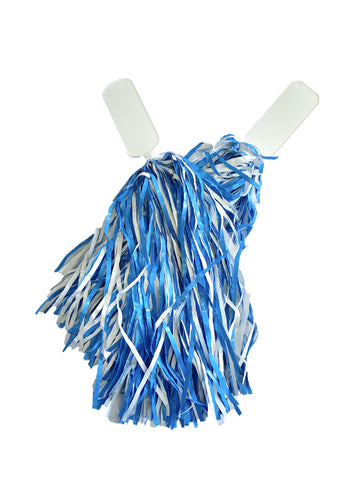 Carolina Blue and White Pom Poms 2 Pack