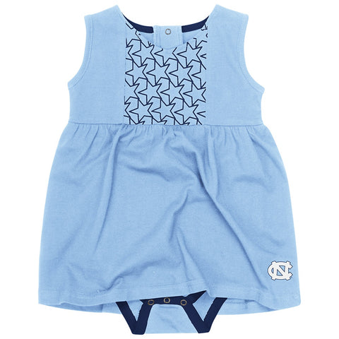 North Carolina Tar Heels Colosseum PF Flyers Baby Girls's Onesie Dress - Carolina Blue