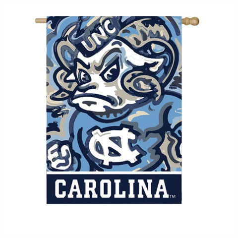 UNC Mascot Rameses House Flag by Justin Patten