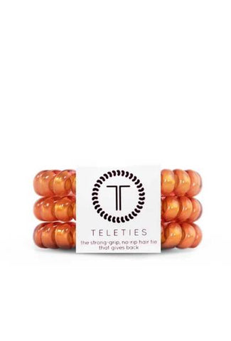 TELETIES Sunrise Large Corded Hair Ties - 3 Pack