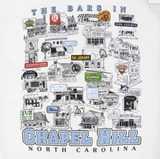 North Carolina Tar Heels Bars of Chapel Hill T-Shirt - White