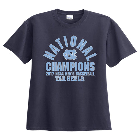 North Carolina Tar Heels 2017 National Championship Slam Dunk T-Shirt - Navy blue